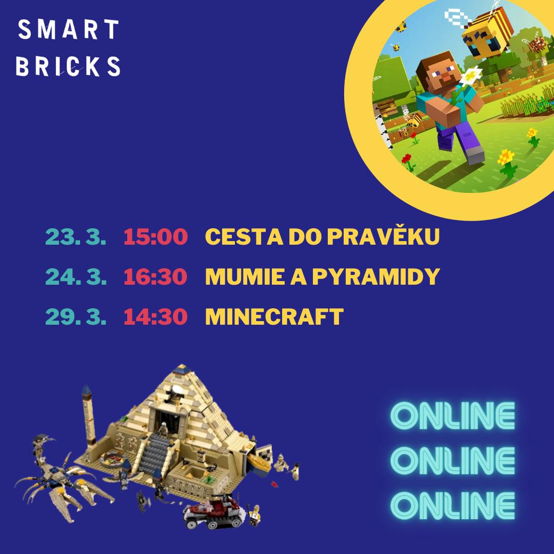 Online LEGO® lekce v týdnech od 22. 3. do 4. 4.